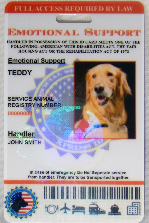 Emotional Support Dog ID Live 2.0