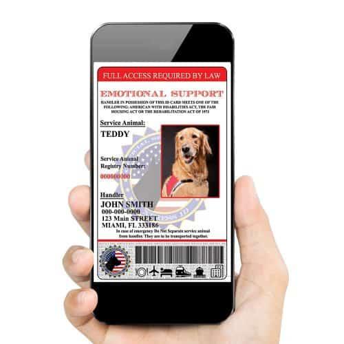 Emotional support Dog Id card