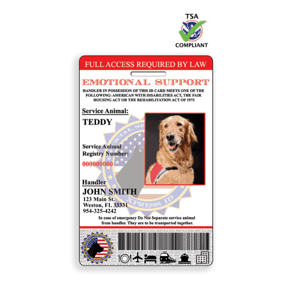 Emotional Support Animal ID Badge