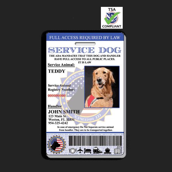 Service Dog ID Badge