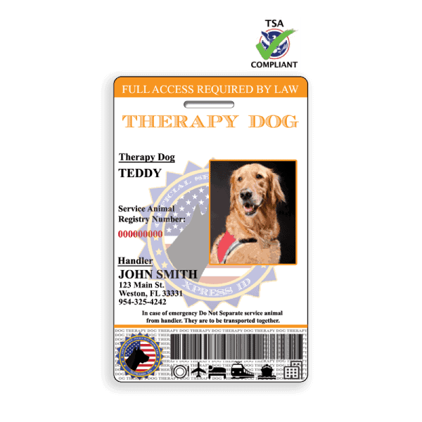 Therapy Dog ID Badge