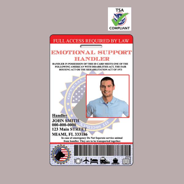 Emotional Support Handler ID Badge