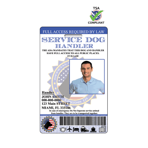 Service Dog Handler ID Badge