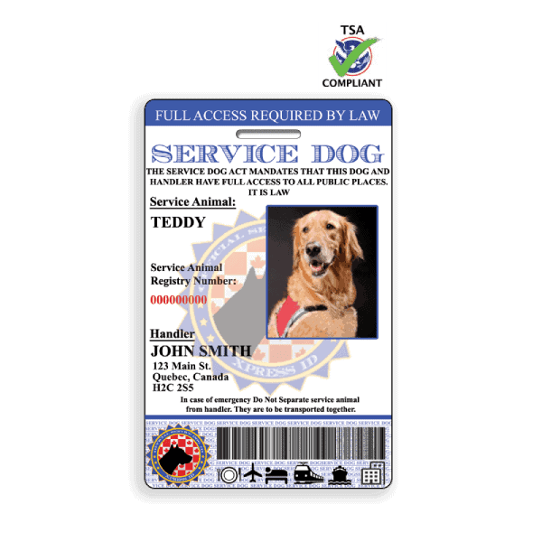 Canadian Service Dog ID