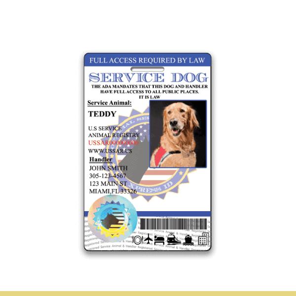 Service Dog Holo Seal ID Badge