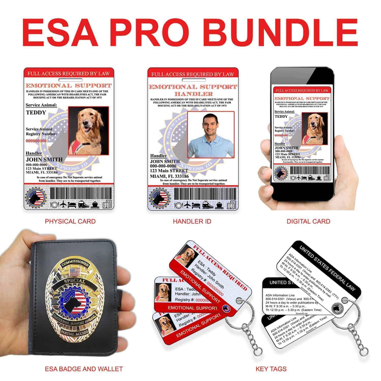 Registration Bundle Badge Esa Includes Service Animal National To - Pro Registry Dog