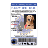 European Service Dog ID Front View