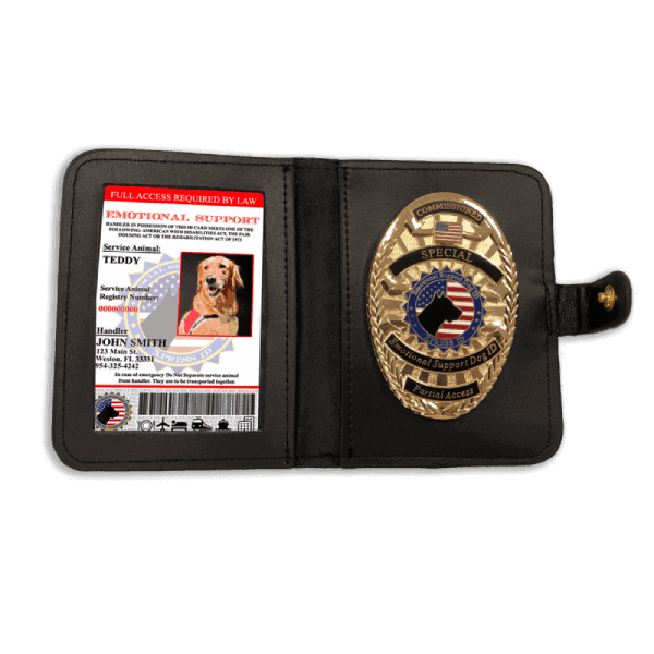 Emotional Support Animal With Badge and Wallet