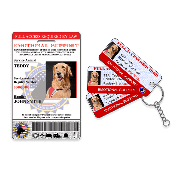 Emotional Support Animal Plus Keytags