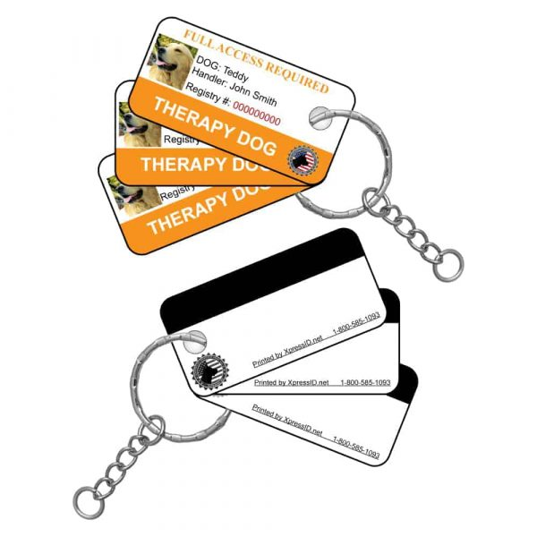 Therapy Dog Key Tags Front & Back