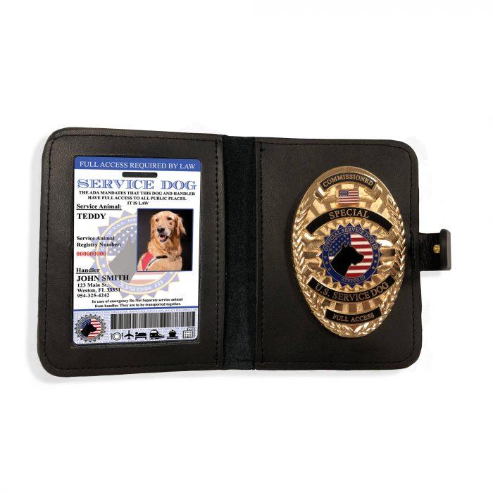 Service Dog ID + Service Dog Badge & Wallet